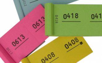 CG communication Vendôme ticket de tmbola personaliser avec prédècoupe et prédètachable